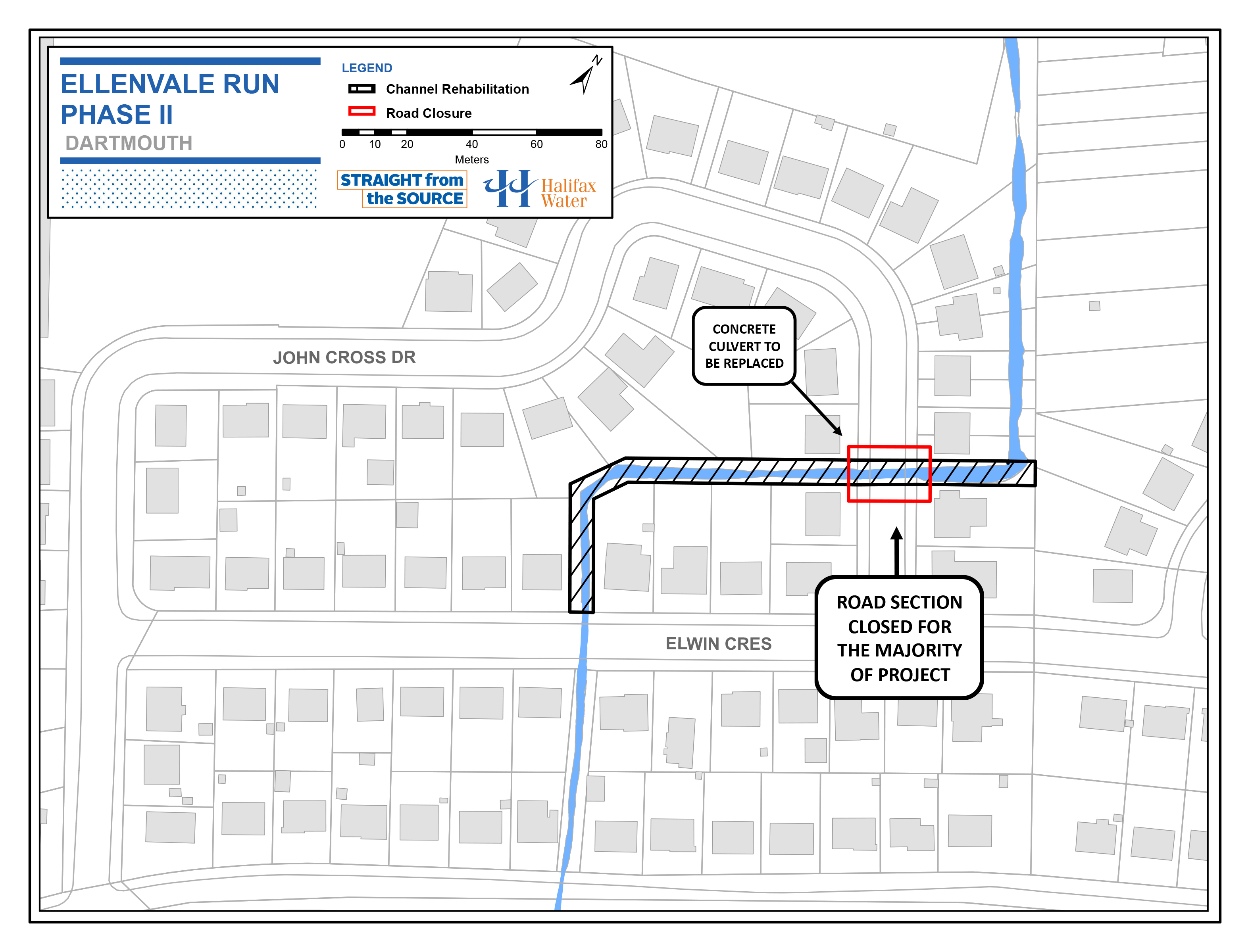 Ellenvale Run Rehabilitation Project Phase 2 - Project Map