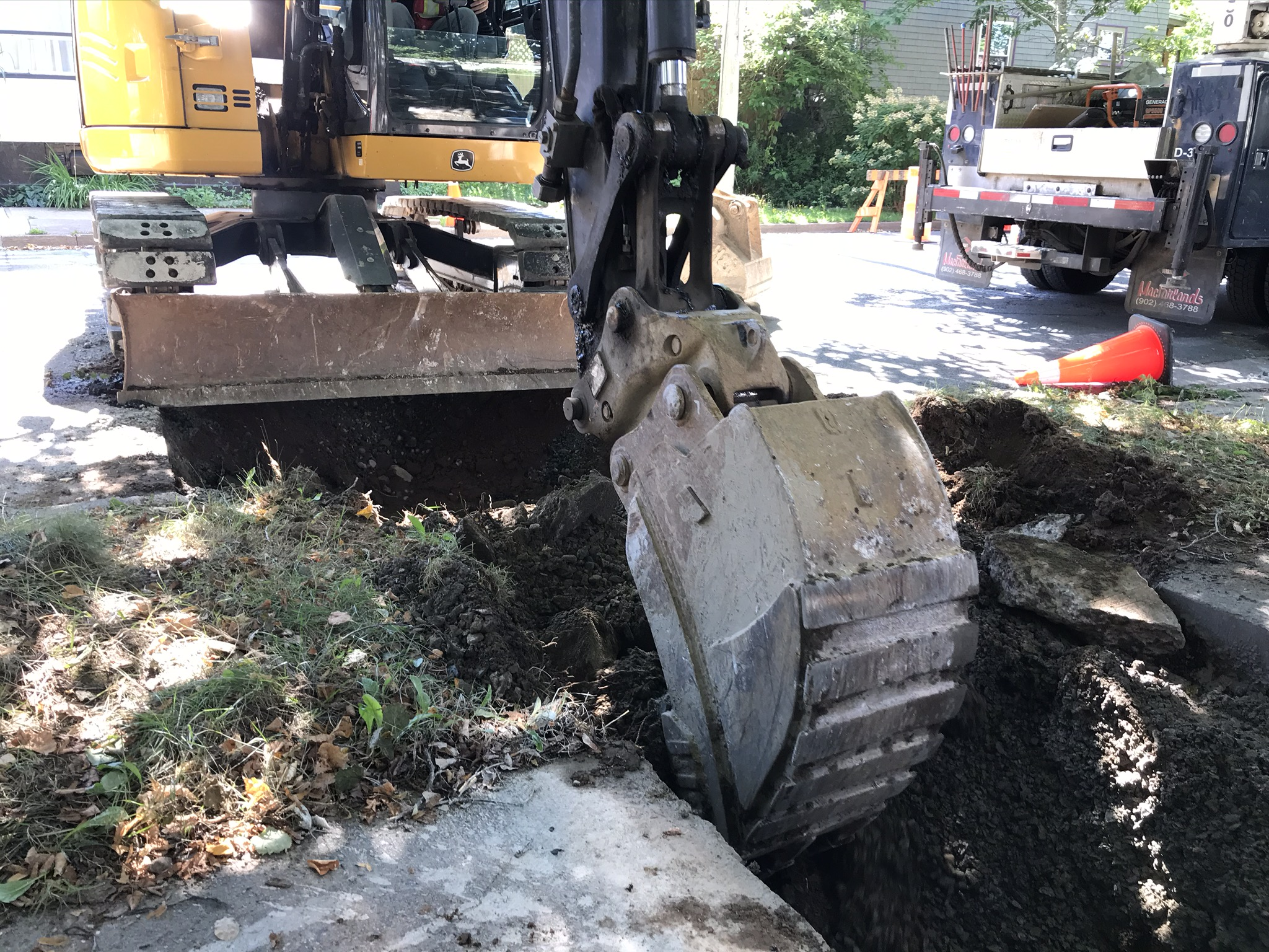 Lead Service Line Replacement Excavation in Halifax