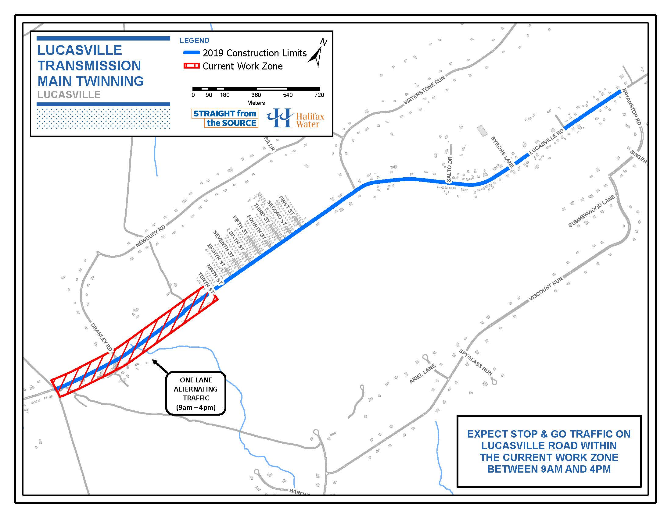 05-31-2019 Lucasville Road - Water Main Work Map