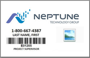 Sample of a Neptune Technology ID Card