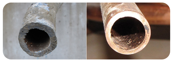 Comparison of lead to copper pipe