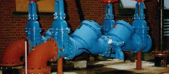 image showing large industrial backflow prevention device